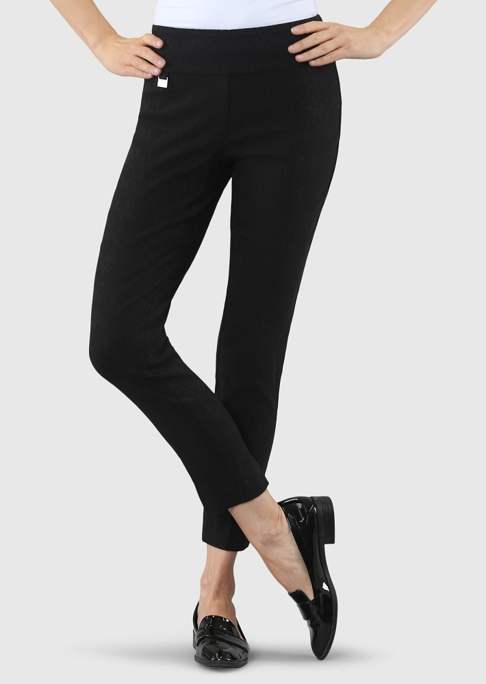 Lisette L. Slim Ankle Narrow Pant Style 50755 Jakarta Jacquard Color Black
